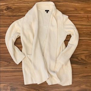 Talbots Ivory Mid Length Open Cardigan
